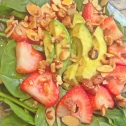 Quick Spinach and Strawberry salad