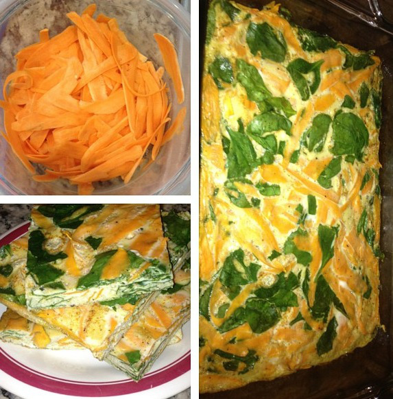 Spinach and Sweet Potato Quiche